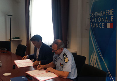 convention de partenariat Sûreté entre l'Union TLF, TLF Overseas et la Gendarmerie nationale